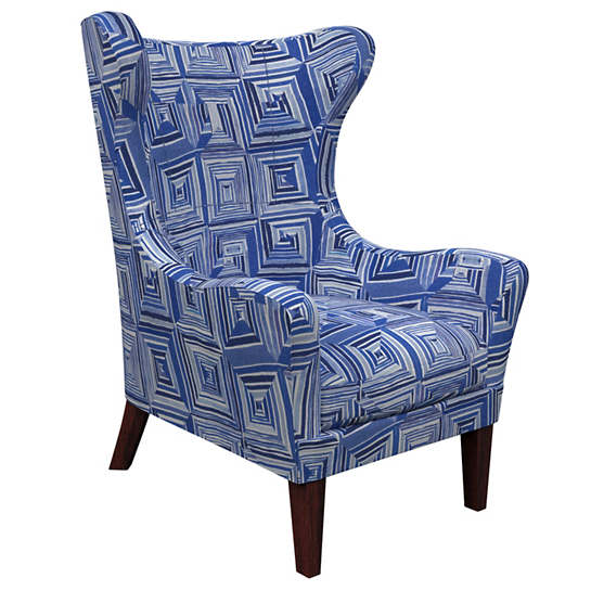 Geo Blue Mirage Tobacco Chair