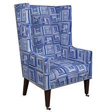 Geo Blue Neo-Wing Chair