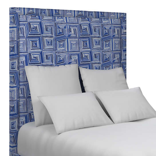 Geo Blue Stonington Headboard