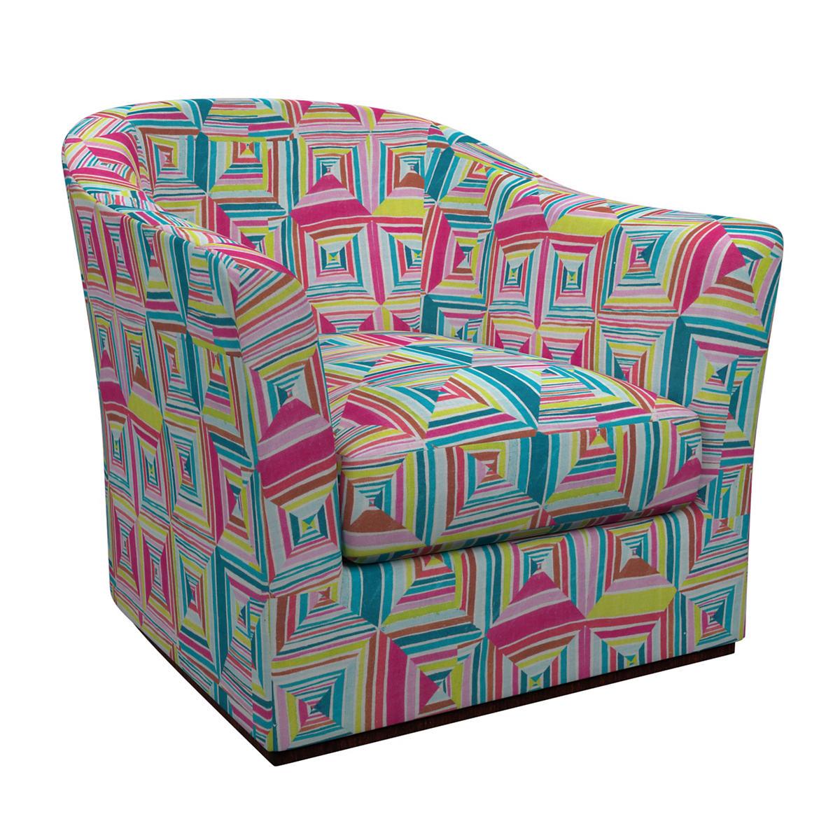 Geo Linen Bright Thunderbird Chair