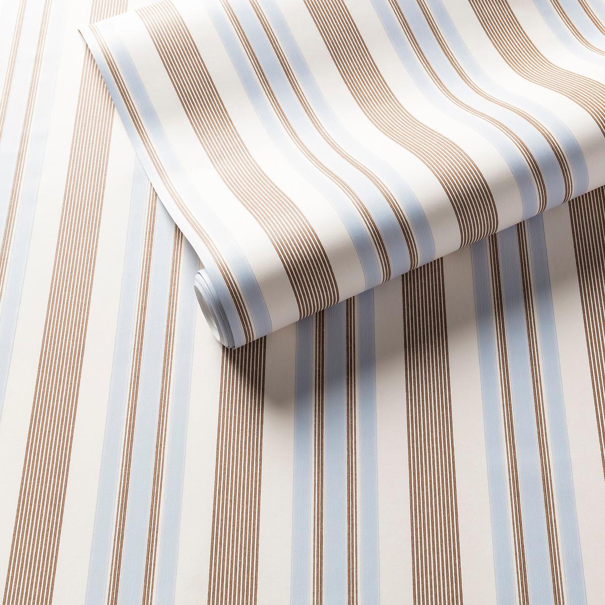 Georgina Stripe Pale Blue Wallpaper