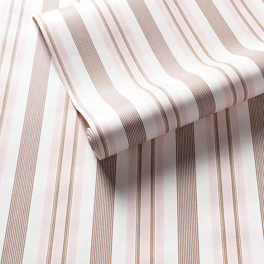 Georgina Stripe Pink Wallpaper