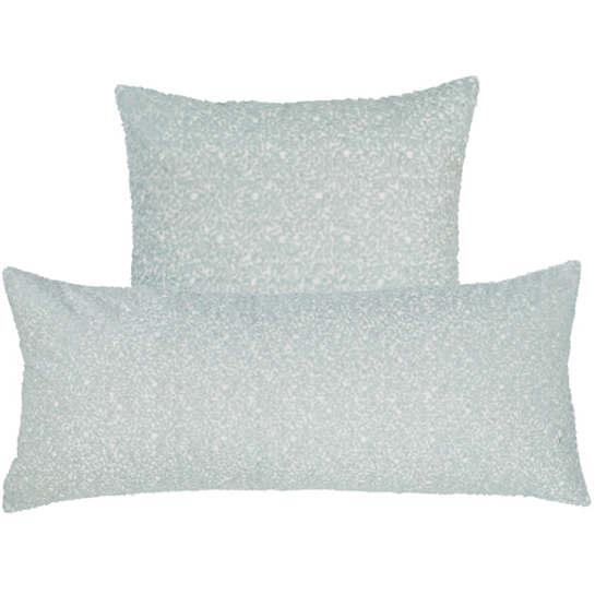Glaze Sequin Robin's Egg Blue Decorative Pillow