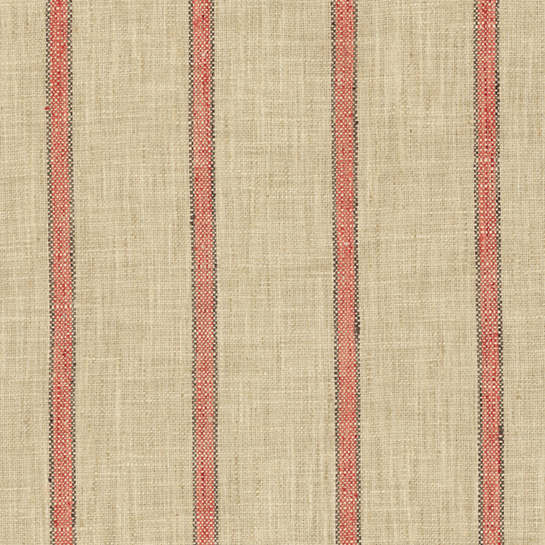 Glendale Stripe Brick/Brown Swatch