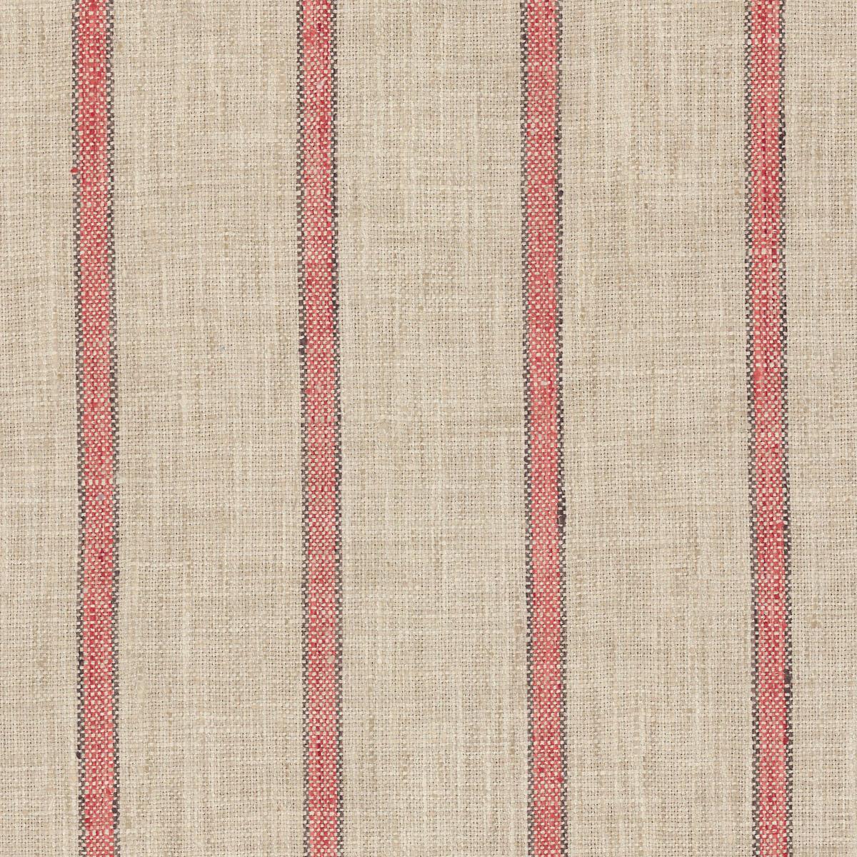 Glendale Stripe Brick/Brown Indoor/Outdoor Fabric