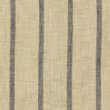 Glendale Stripe Navy/Brown Indoor/Outdoor Fabric