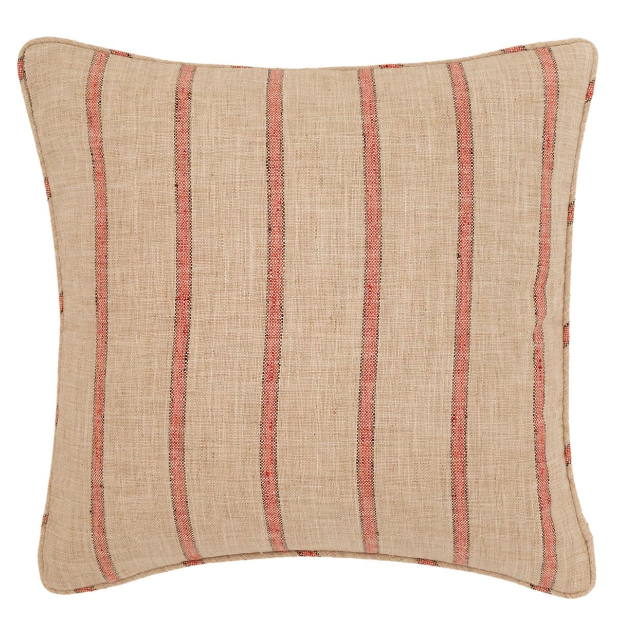Glendale Stripe Brick/Brown Indoor/Outdoor Decorative Pillow