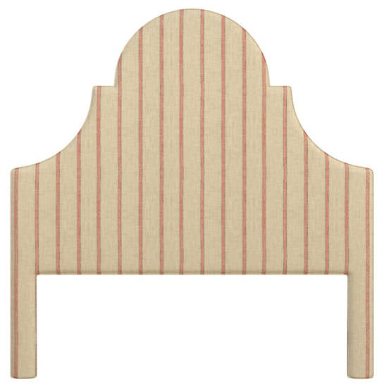 Glendale Stripe Brick/Brown Montaigne Headboard