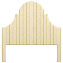 Glendale Stripe Gold/Natural Montaigne Headboard