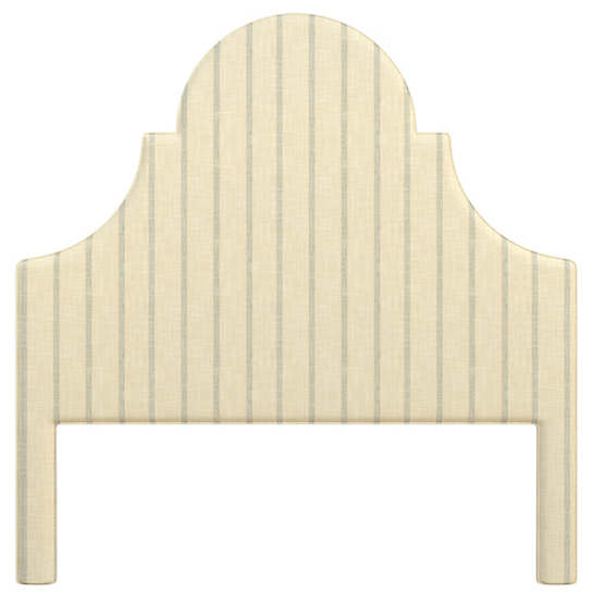 Glendale Stripe Light Blue/Natural Montaigne Headboard