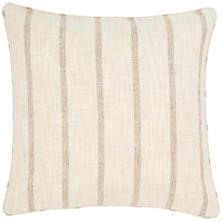 Glendale Stripe Natural/Grey Indoor/Outdoor Decorative Pillow