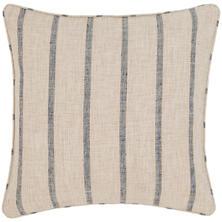 Glendale Stripe Navy/Brown Indoor/Outdoor Decorative Pillow