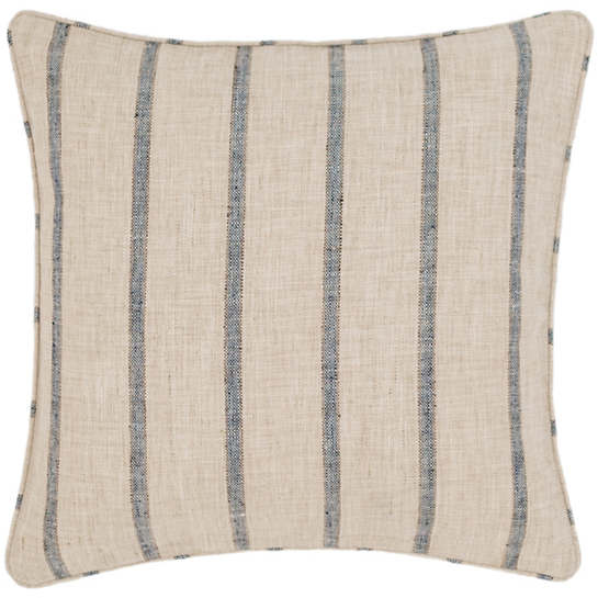 Glendale Stripe Navy/Brown Indoor/Outdoor Decorative Pillow