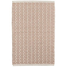 Glimmer Wave Rose Gold Woven Cotton Rug