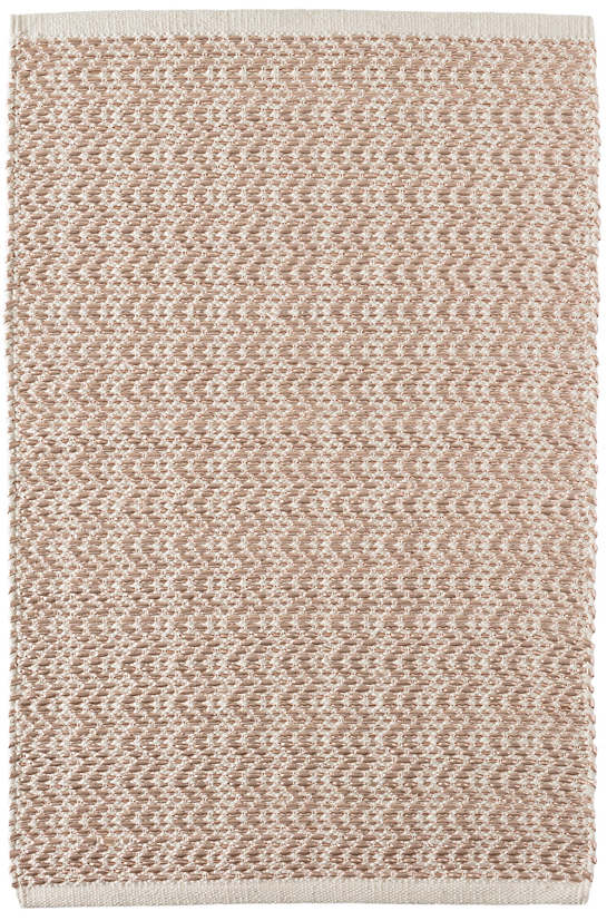 Glimmer Wave Rose Gold Woven Rug