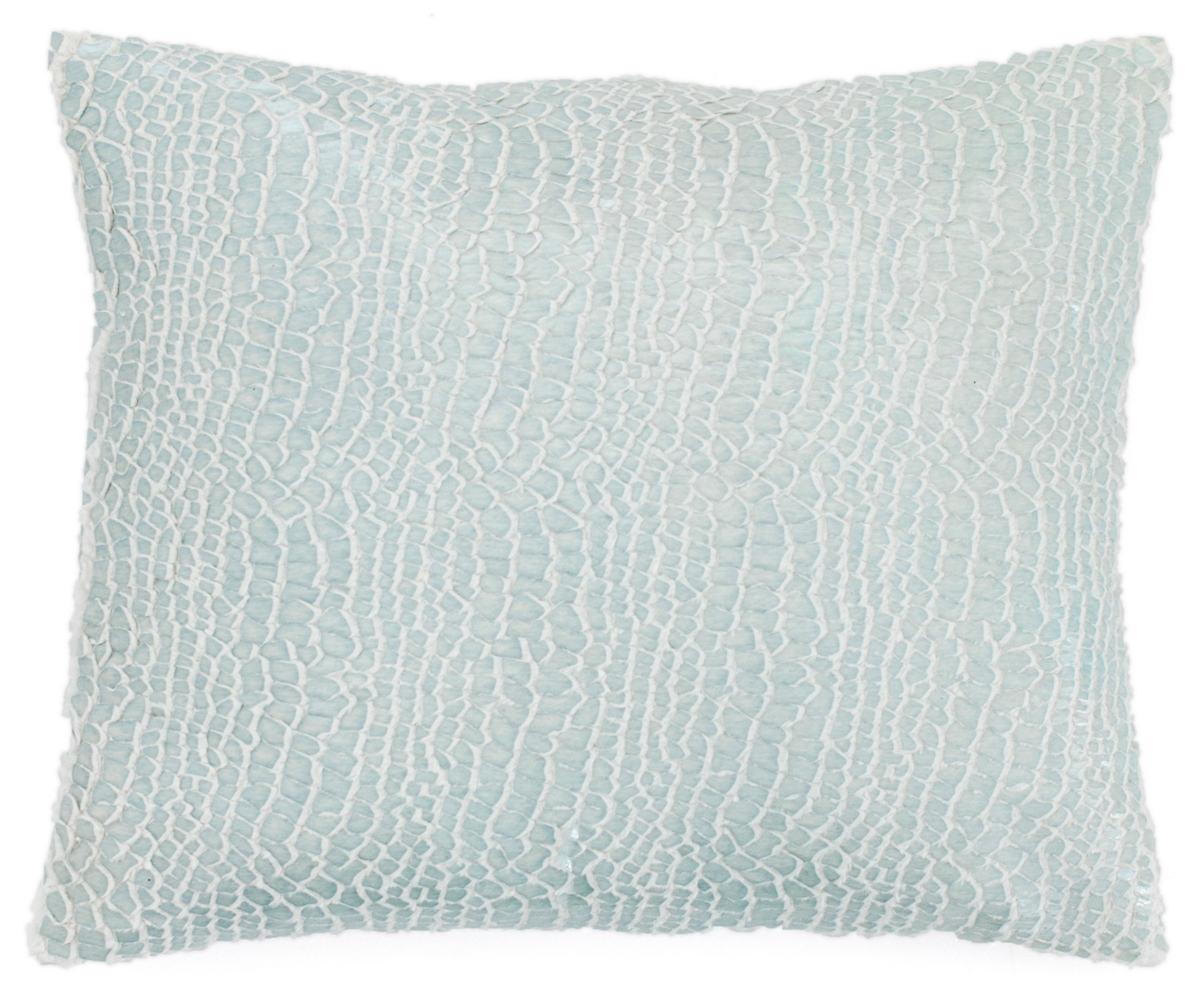 Gloss Velvet Robin's Egg Blue Decorative Pillow