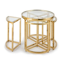 Gold Austin Side Table Set