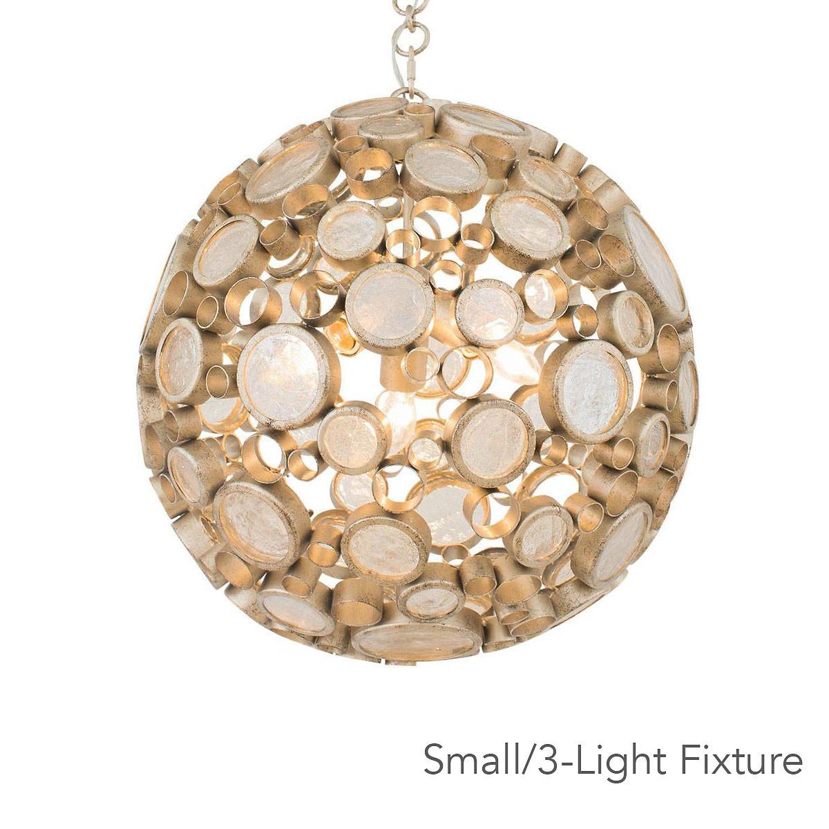 Gold Gilded Orb Pendant