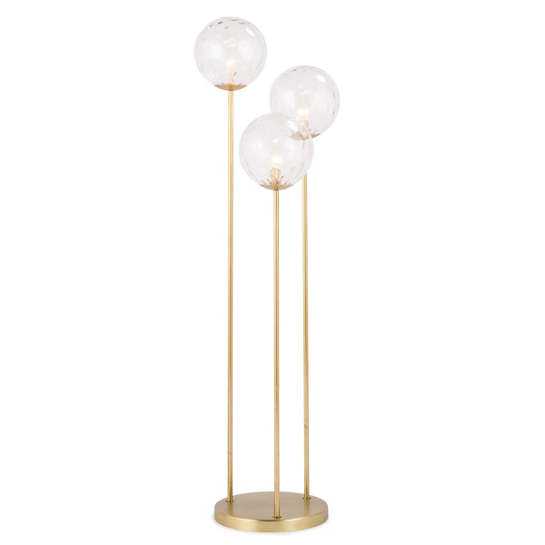 Gold Globe Triple Floor Lamp