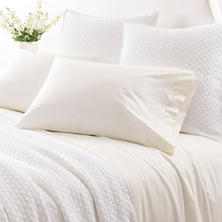 Grace Percale Ivory Flat Sheet