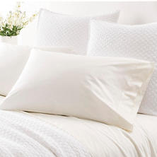 Grace Percale Ivory Pillowcases
