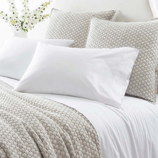 Grace Percale White Fitted Sheet