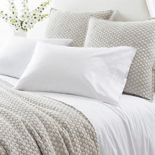 Grace Percale White Flat Sheet