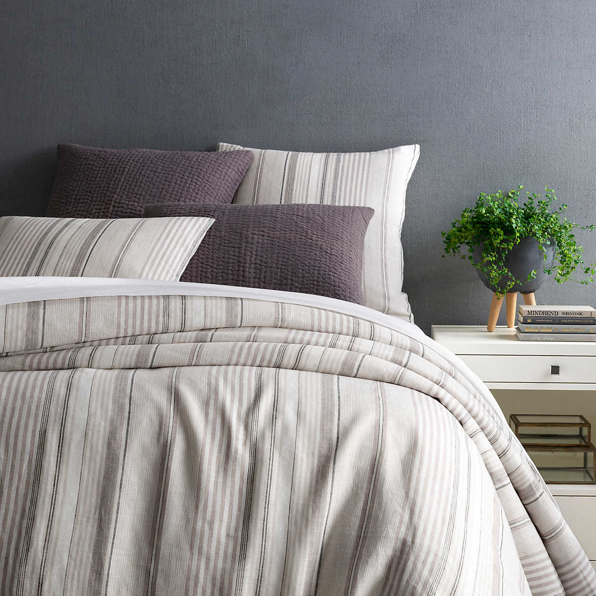 duvet bedding bed gray linen natural cover company duck blue product egg