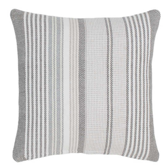 Gradation Ticking Woven Cotton Decorative Pillow