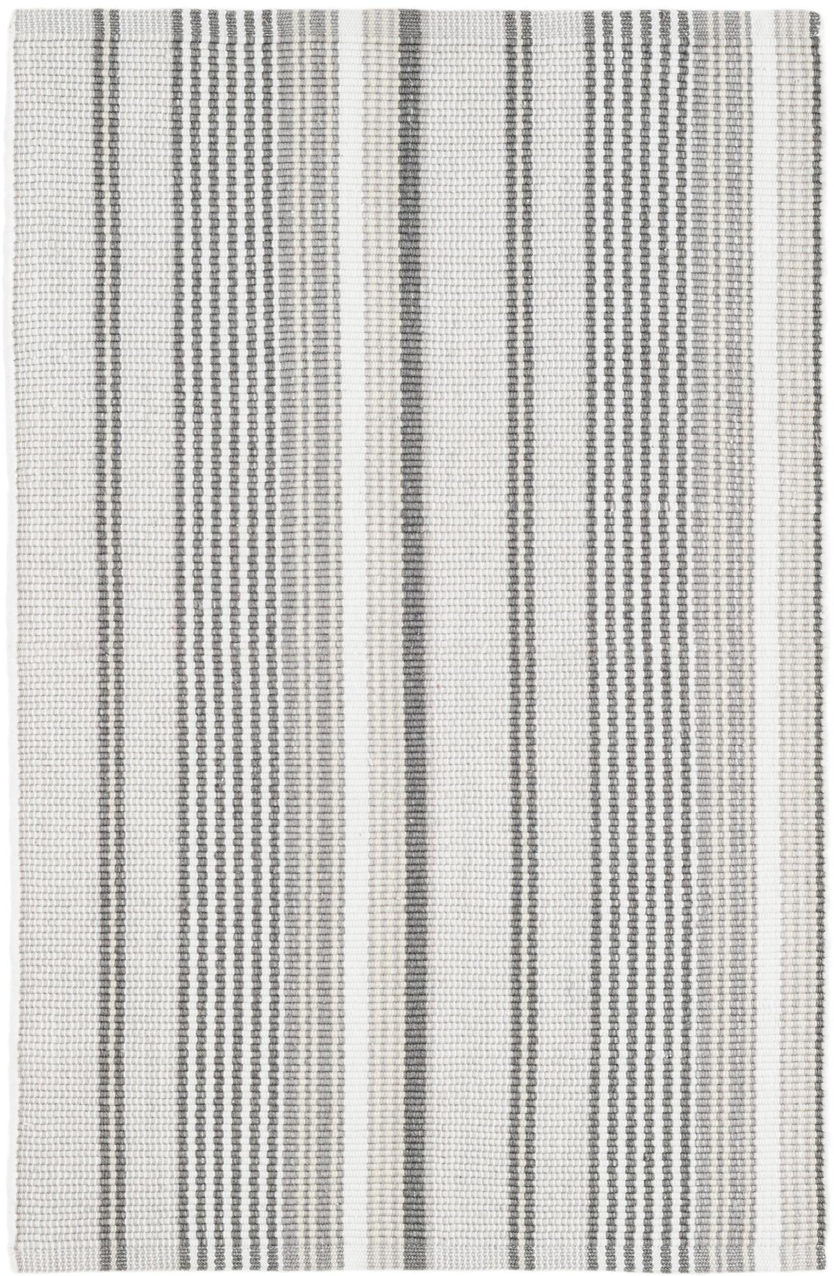 Gradation Ticking Woven Cotton Rug