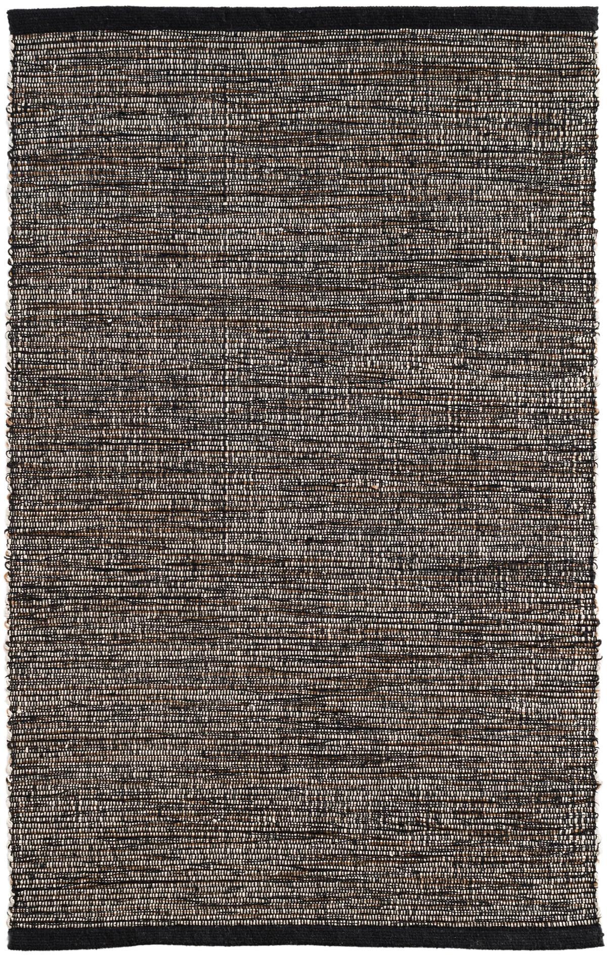 Grant Black/Brown Woven Cotton Rug