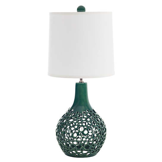 Green Lady Teardrop Lacey Table Lamp