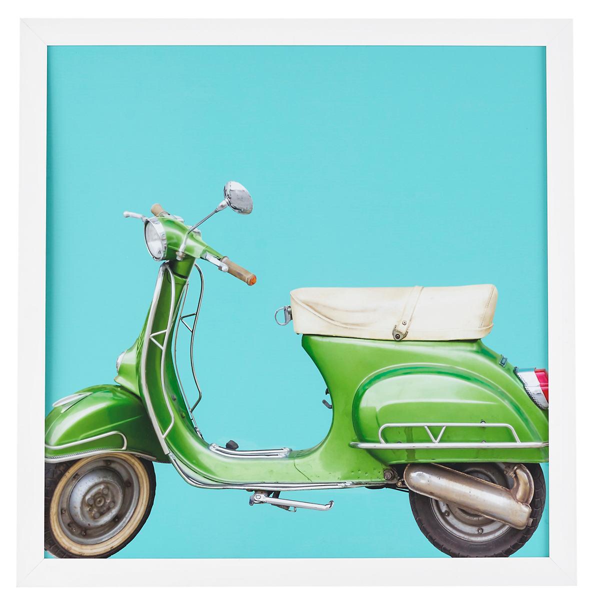 Green Scooter Art