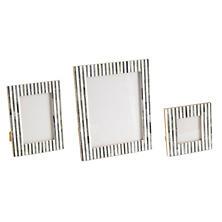 Grey Stripe Bone Inlay Picture Frame