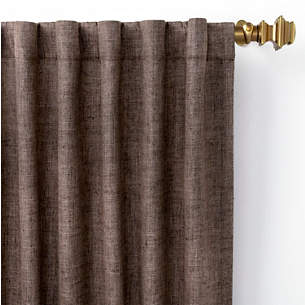 brown window curtains simple greylock brown indooroutdoor curtain panel window curtains and panels pine cone hill