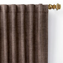 Greylock Brown Indoor/Outdoor Curtain Panel