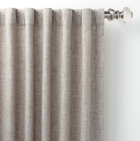 Greylock Grey Indoor/Outdoor Curtain Panel