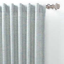 Greylock Soft Blue Indoor/Outdoor Curtain Panel