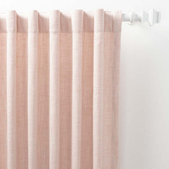 Greylock Soft Pink Indoor/Outdoor Curtain Panel