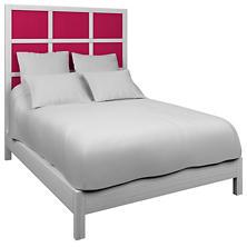 Estate Linen Fuchsia Grid Block Bed