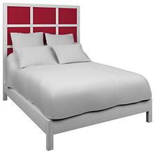 Estate Linen Red Grid Block Bed