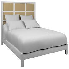 Estate Linen Wheat Grid Block Bed