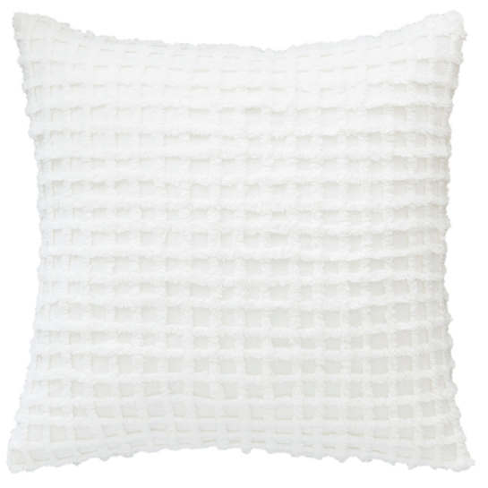 Gridwick Dove White Decorative Pillow