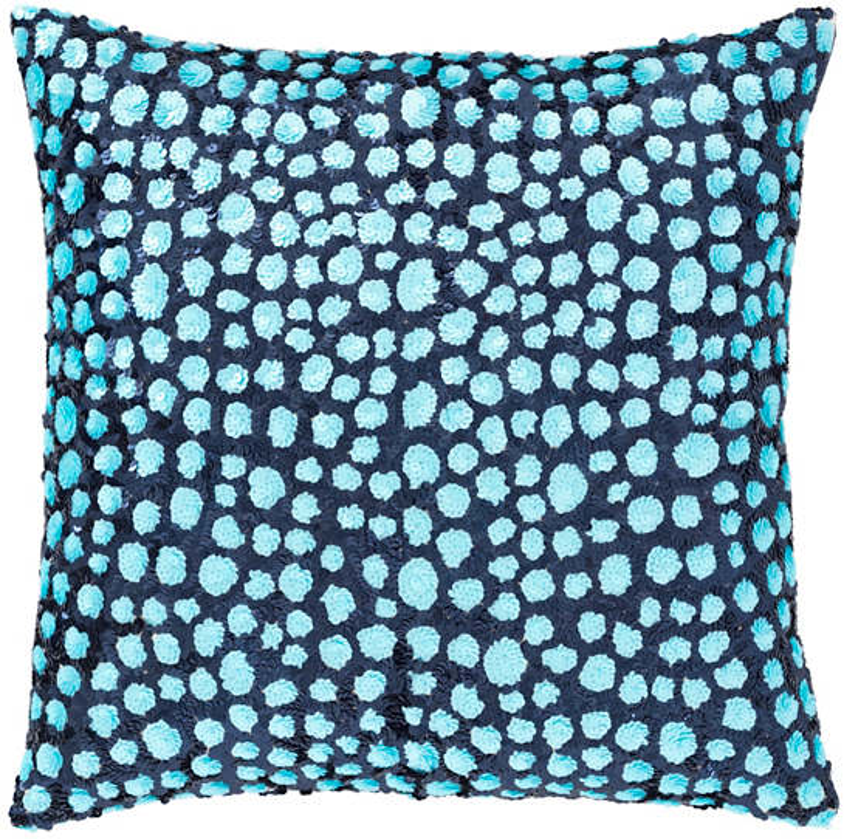 Grouper Navy/Turquoise Decorative Pillow