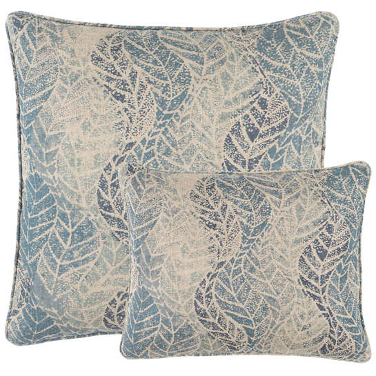 Grove Linen Blue Decorative Pillow