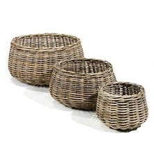 Gustavia Round Baskets/Set Of 3