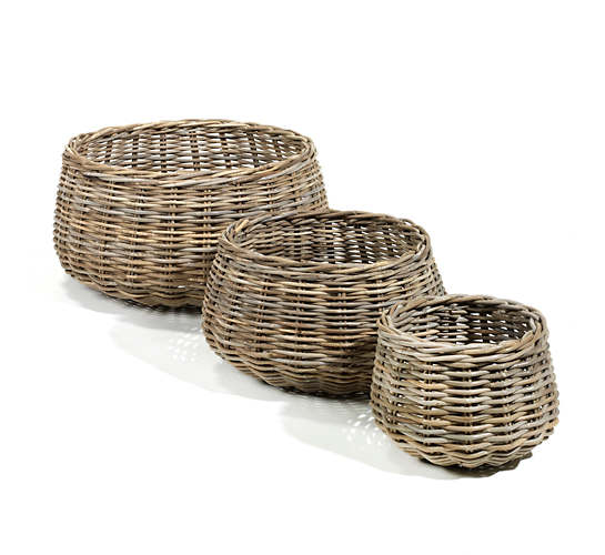 Gustavia Round Baskets/Set Of 3