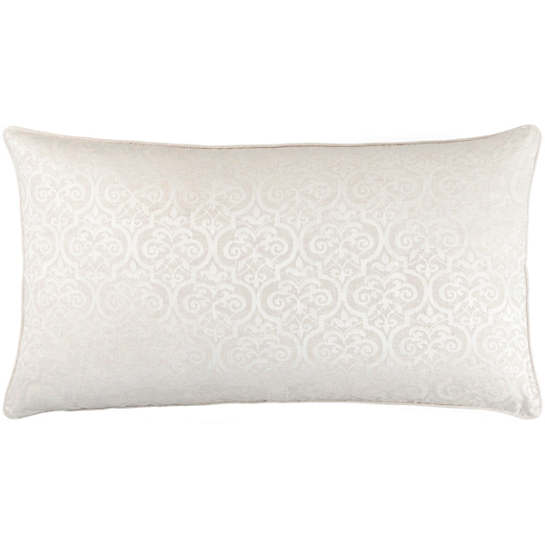 Gwendolyn Embroidered Ivory Decorative Pillow