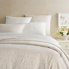 Gwendolyn Embroidered Ivory Duvet Cover