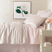 Gwendolyn Embroidered Slipper Pink Duvet Cover